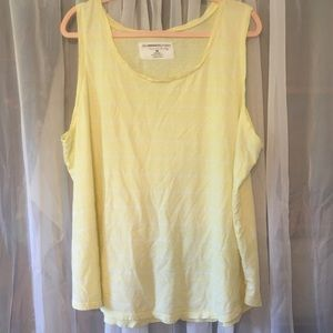 Yellow and white stripe tank top!